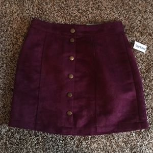 NWT Old Navy Snap Front Skirt in Plum